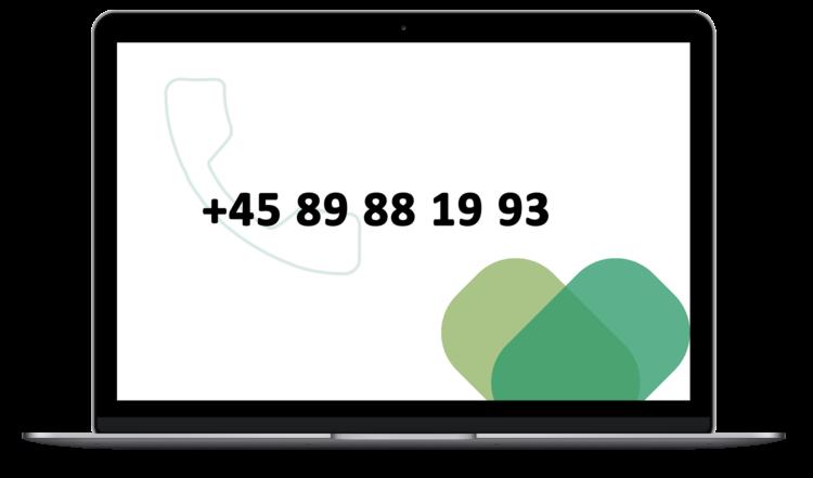 Telefonnummer til supporten